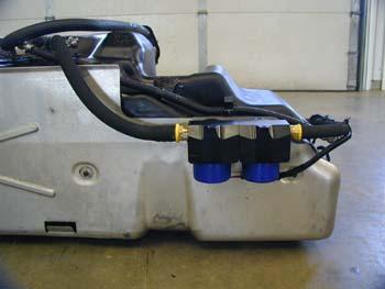 Twin Pumps Tank Shield on Duramax Fuel Tank